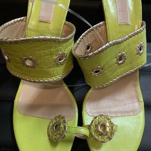 Brand new lime green Micheal Kors high heels